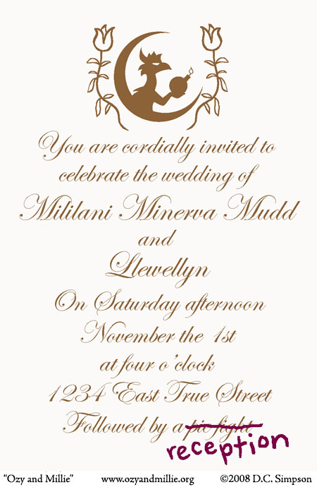 Ozy And Millie You Are Cordially Invited
